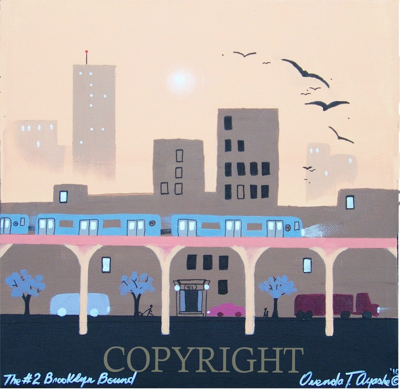 The #2 to Brooklyn -2010 (SOLD Mike Montgomery)